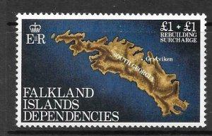 FALKLAND IS.DEP. SG112 1982 REBUILDING FUND MNH