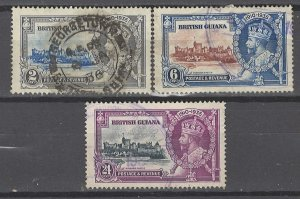 COLLECTION LOT # 3623 BRITISH GUIANA 3 STAMPS 1935 CV+$25