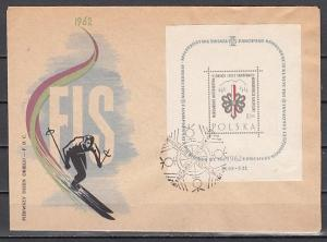 Poland, Scott cat. 1049. World Skiing Championship s/sheet. First Day Cover.