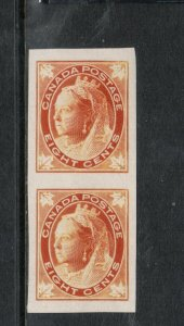 Canada #72a Extra Fine Never Hinged Imperf Pair **With Certificate**