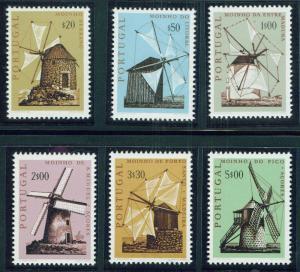 PORTUGAL Scott 1088-9 MNH** Windmill set 1971 CV$6.70