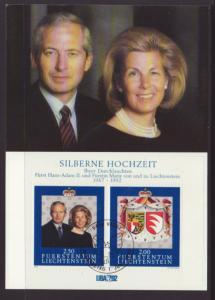 Liechtenstein 985 Maxi Card U/A FDC