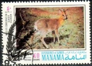 Grey Duiker, Wildlife Conservation, Manama stamp Used