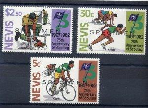 1982 Scouts Nevis 75th anniversary 'SPECIMEN'
