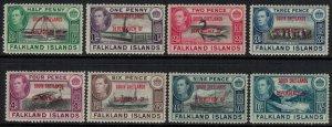 Falkland Is. #5L1-8*  CV $28.20