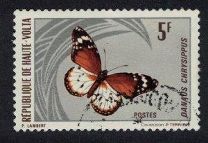 Upper Volta African Monarch Butterfly 'Danaus chrysippus' 5f 1971 Canc SG#336