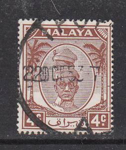 Malaya Perak 1950 Sc 108 4c Used