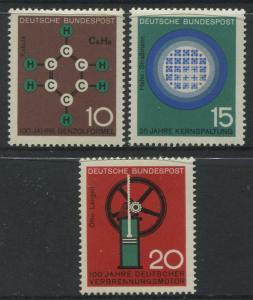 Germany -Scott 892- 94 - General Issue -1964 - MVLH - Set of 3 Stamp