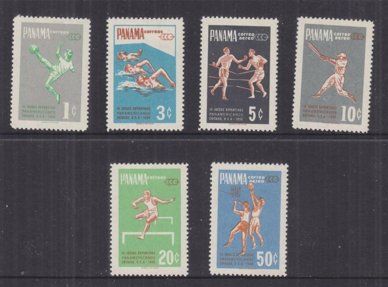 PANAMA, 1959 Pan American Games set of 6, mnh.