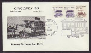 US Cincopex 83 Genesee St Horse Car Cover BIN