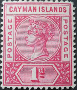 Cayman Islands 1900 QV One Penny SG 2 mint