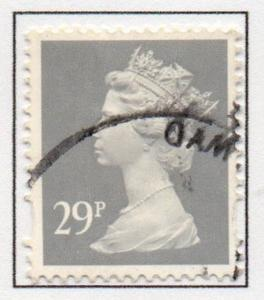 Great Britain Sc MH218 1993 29p gray QE II  Machin Head stamp used