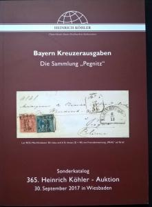 Auction catalogue BAYERN KREUZERAUSGABEN Germany BAVARIA KREUZER ISSUES