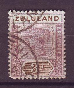 J25472 JLstamps 1894-6 zululand used #18 ovpt