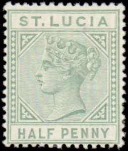 1883 St. Lucia #27a, Complete Set, Hinged