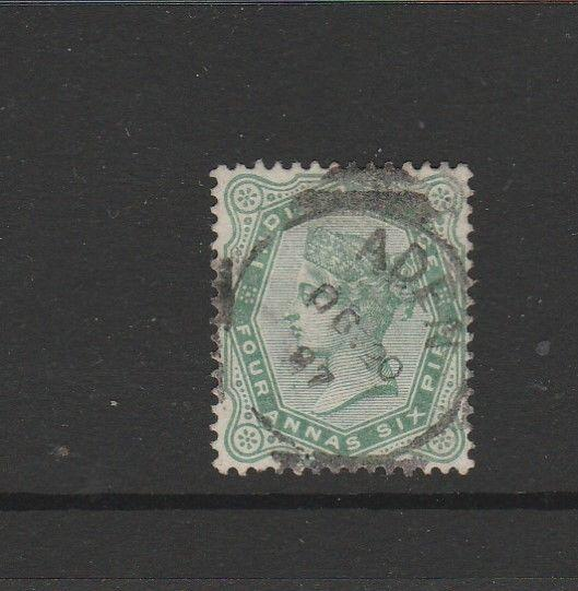 Aden, india Used in, 1882/90 4 1/2As Used SG Z53