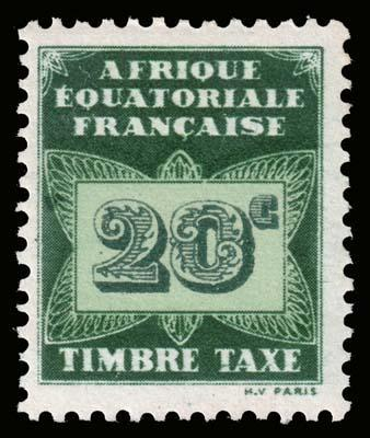 French Equatorial Africa - Scott J3 - Mint-Never-Hinged
