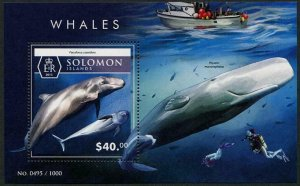 HERRICKSTAMP NEW ISSUES SOLOMON ISLANDS Sc.# 1967 Whales Souvenir Sheet