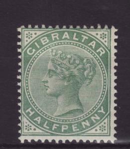 1887 Gibraltar ½d Dull Green Mint SG8