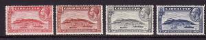 Gibraltar-Sc#96-9-unused hinged KGV set-Rock of Gibraltar-1931-33-