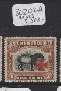 NORTH BORNEO (P2107B) RED CROSS CARMINE CROSS 1C  SG 202A       MOG