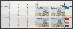Namibia, Scott 662-665, MNH blocks of four