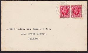 GB 1936 cover CREWE TO LIVERPOOL S.C. cds - railway sorting carriage........6416