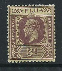 Fiji  GV  SG 130d  MUH Die II on pale yellow