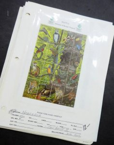 EDW1949SELL : NICARAGUA Beautiful collection of all VF MNH Full Shtlts. Cat $220