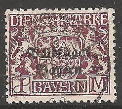 BAVARIA SGO228 1920 1m PURPLE FINE USED