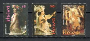 French Polynesia 951-953 MNH