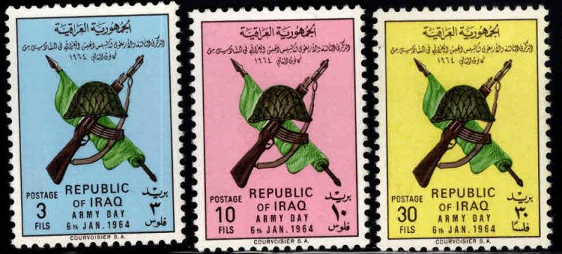 IRAQ Scott 339-341 MH*  1964 Army day set