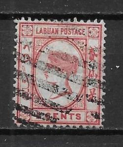 Labuan 17 2c Victoria single Used