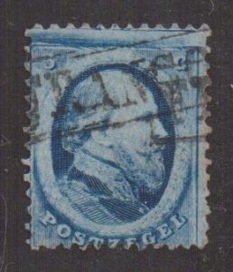 Netherlands   #4   used   1864    William III  5c