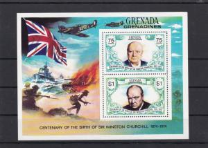 Grenada Mounted Mint Centenary Birth Sir Winston Churchill  Stamps Sheet rf22152