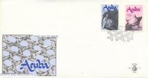 Aruba Scott #'s  73 - 74 First Day Covers