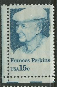 USA - Scott 1821 - Frances Perkins -1980- MLH - Single 15c Stamp