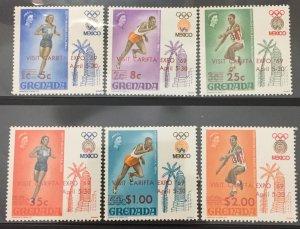 Grenada 1969 #310-5, Olympics, MNH