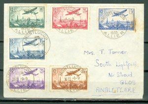 FRANCE 1936 AIR #C8-C13 on  COVER