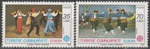 Turkey #2178-9 MNH F-VF CV $9.00 (D797)