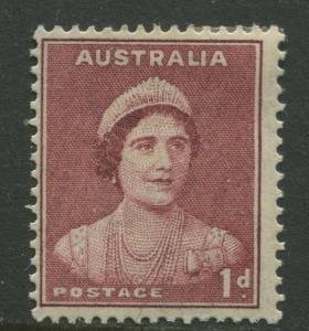 Australia - Scott 181 -  QE -1938- MLH - Perf.15 x 14 - Single 1p stamp