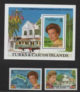 $Turks+Caicos Sc#766-768 M/NH/VF, complete set, Cv. $27.50