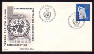 United Nations - Geneva 5 FDC