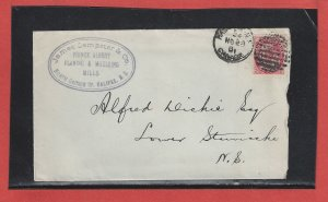 1901 Halifax NS Numeral ad  cover Canada