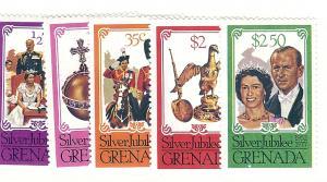 Grenada, 788-92, Changed Colors, Singles, MNH