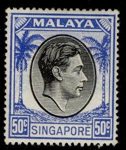 SINGAPORE GVI SG27, 50c black & blue, M MINT.