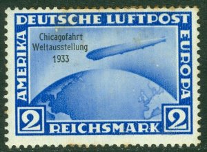 EDW1949SELL : GERMANY 1933 Scott #C44 Gum stains. Mint Original Gum. Catalog $75