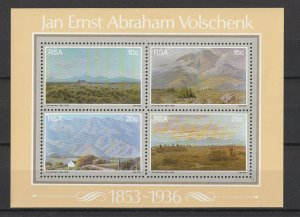 South Africa MNH S/S Volschenk Landscape Painting