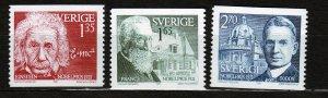 J23060 JLstamps 1981 sweden mnh set #1387-9 nobel prize