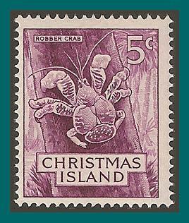 Christmas Island 1963 Robber Crab, MNH 13,SG13